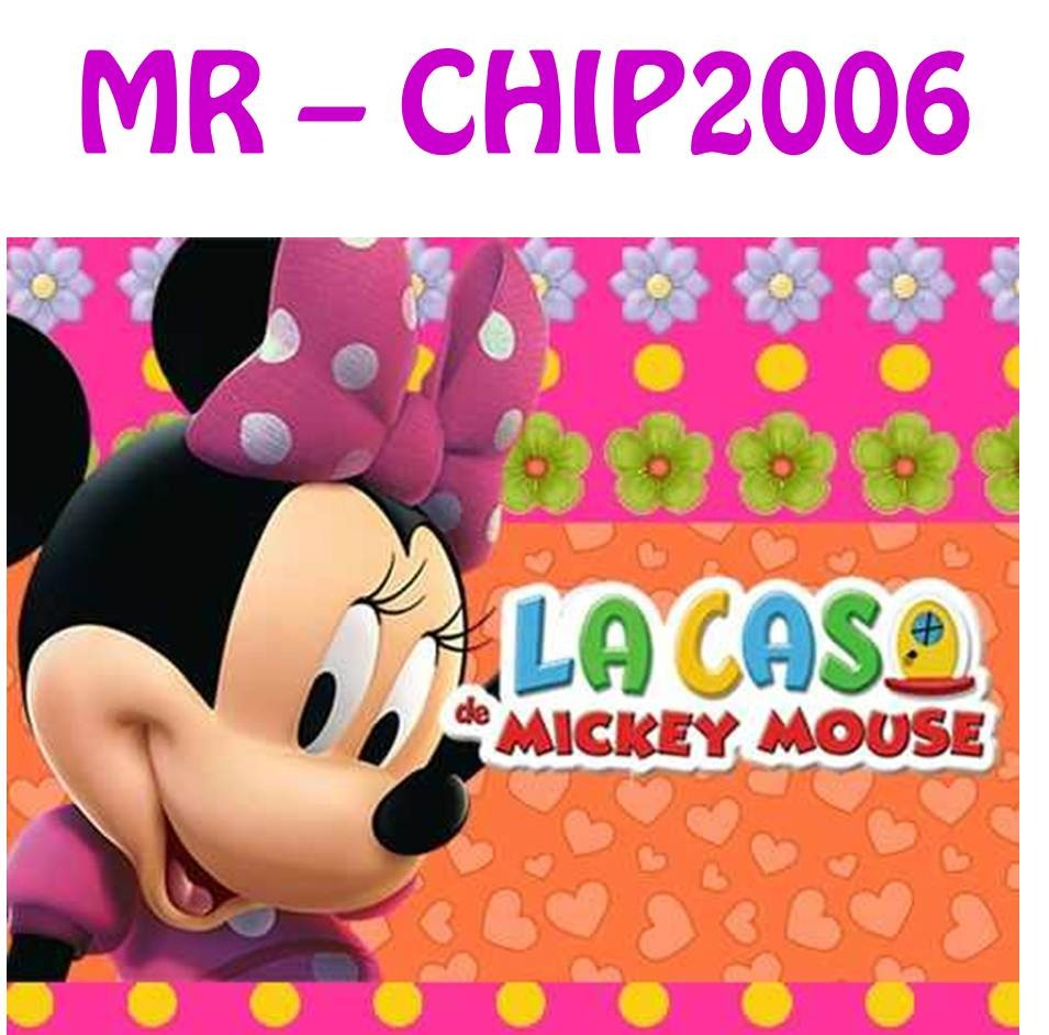 Kit imprimible minnie rosa de la casa de mickey mouse bs - La casa de la minnie ...
