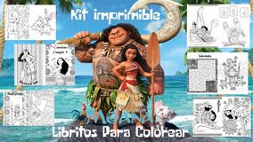 Kit Imprimible Moana Libritos Para Colorear Y Actividades
