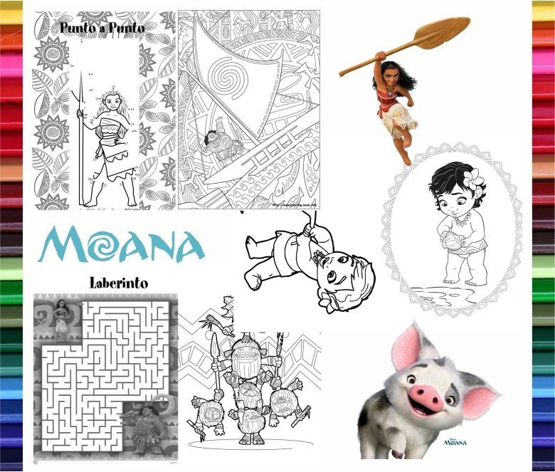 Kit Imprimible Moana Libritos Para Colorear Y Actividades - $ 65,00 ...
