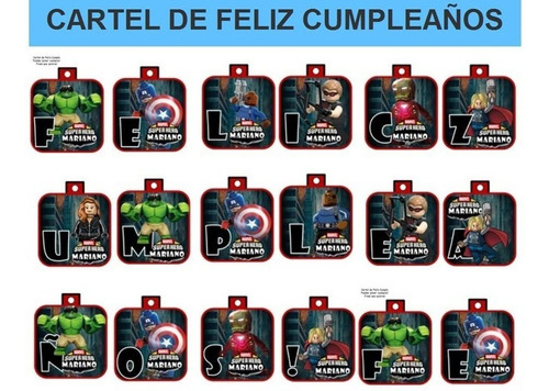 kit imprimible modificable avengers lego fiesta 3x1