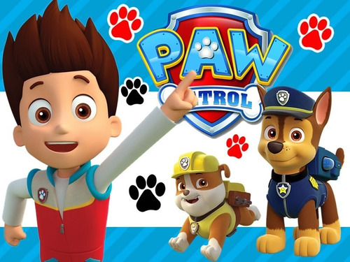 kit imprimible modificable candy bar paw patrol cumpleaños