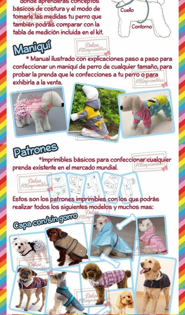 Kit Imprimible Moldes Y Patrones De Ropa Para Perros Y Mas - $ 1.990 ...