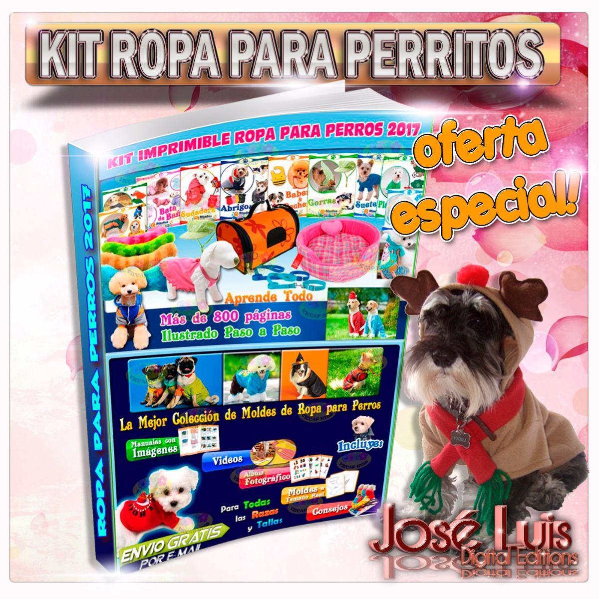 Kit Imprimible Moldes Y Patrones Ropa Para Perros Confeccion ...