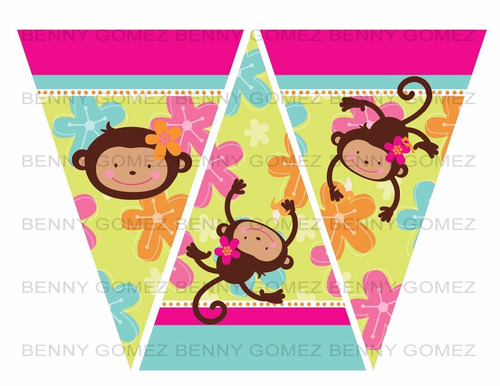kit imprimible monkey love original mas pack adicional