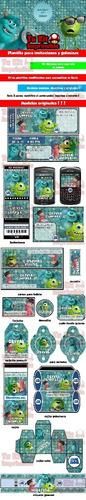 kit imprimible monsters inc tarjetas candy bar calendario