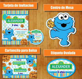 Kit Imprimible Monstruo Come Galletas Cookie Monster Baby