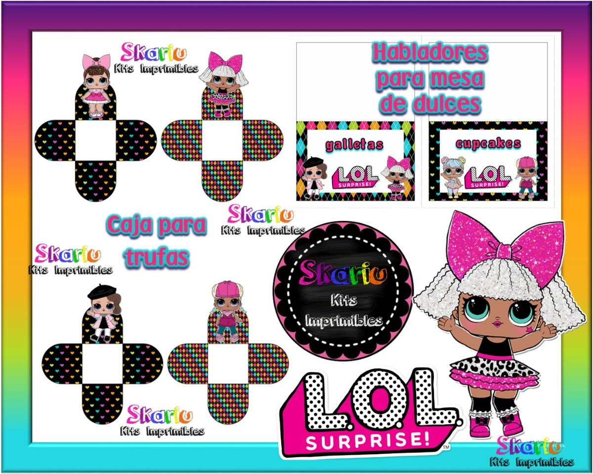 Kit Imprimible Muñecas Lol Candy Bar - $ 1.500 en Mercado Libre