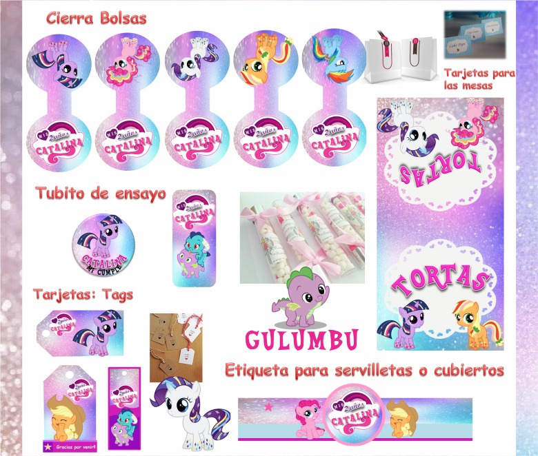 Kit Imprimible My Little Pony Baby Candy Bar Golosinas 2*1 - $ 65,00 ...