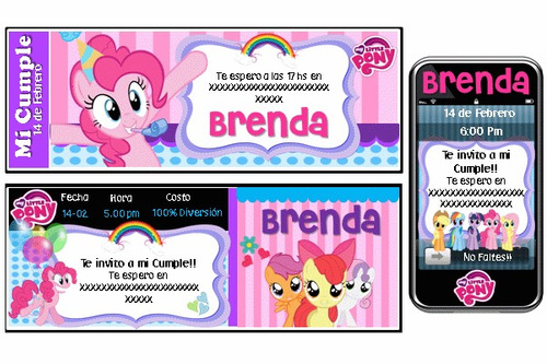kit imprimible my little pony personalizado 100%