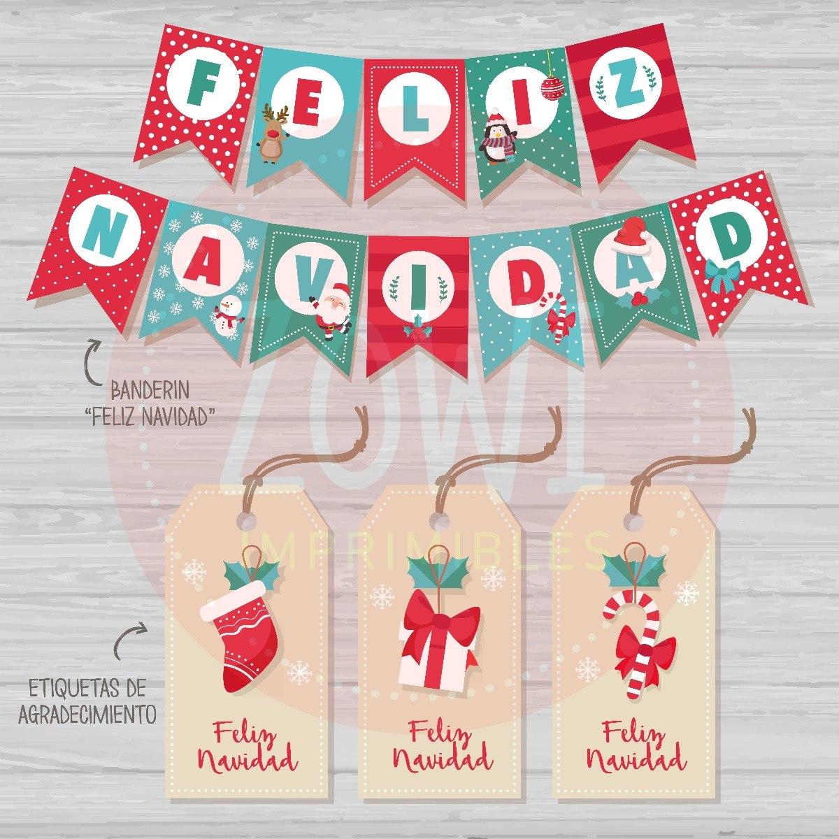 Kit Imprimible Navidad - Imprimibles Zowi - $ 340,00 en Mercado Libre