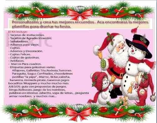 Kit Imprimible Navidad Tarjetas Ano Nuevo Calendario 2019 65