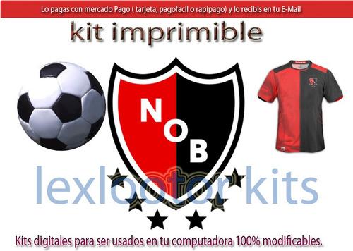kit imprimible newells´s old boys nob n.o.b. candy bar