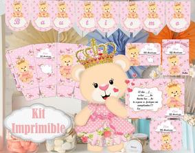 Kit Imprimible De Goldie Y Osito Bautismo Kits Personalizados En