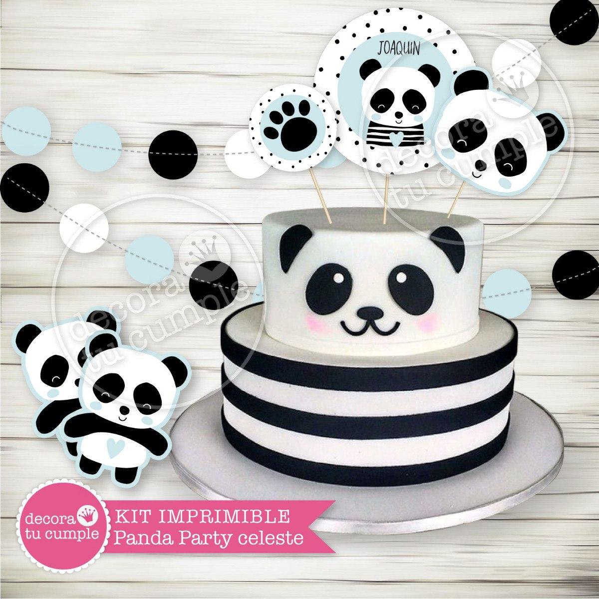 Kit Imprimible Osito Panda Candy Bar Baby Shower Cumpleanos 380