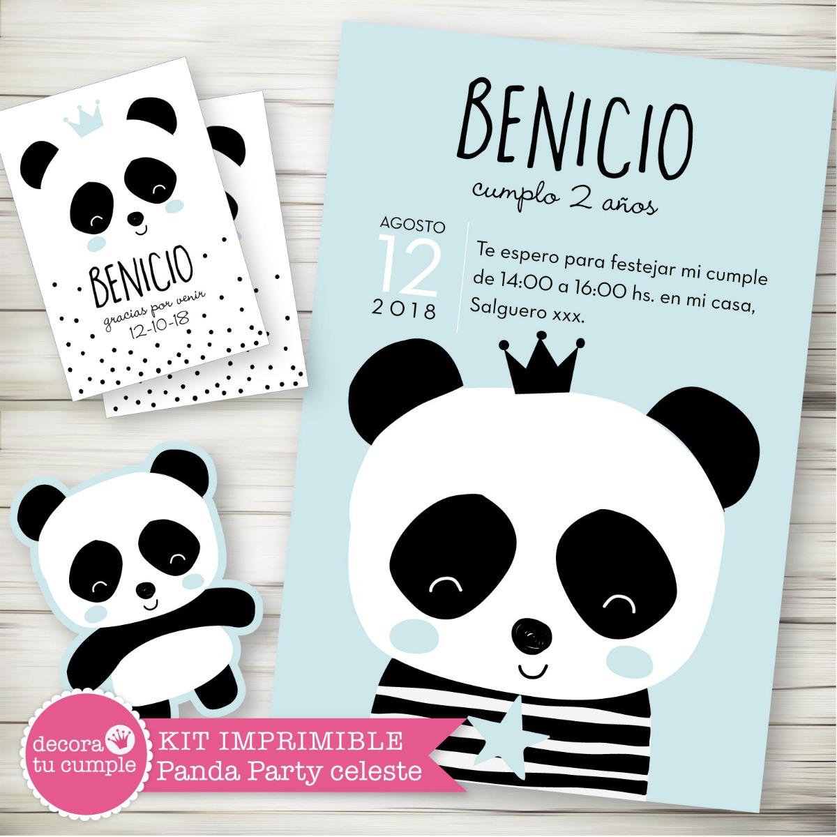 Kit Imprimible Osito Panda Candy Bar Babyshower Cumpleanos 2 380