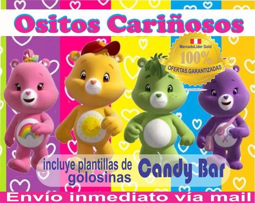 kit imprimible ositos cariñosos cumpleaños + candy bar