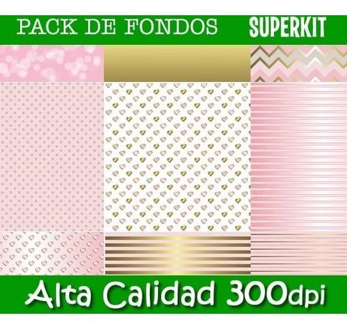 kit imprimible pack de fondos 300 dpi 42 packs + 2x1