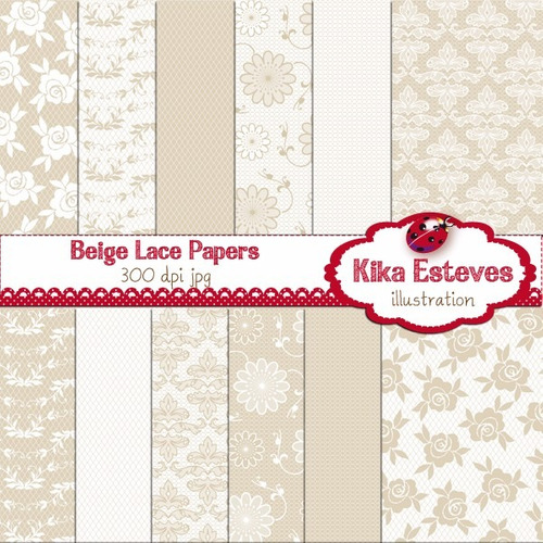 kit imprimible pack fondos beige crema clipart cod1157