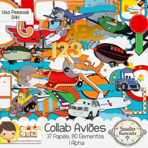 kit imprimible pack fondos clipart aviones c134