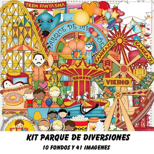 kit imprimible pack fondos parque de diversiones feria 10