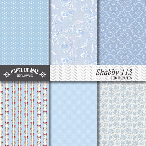 kit imprimible pack fondos shabby chic c080