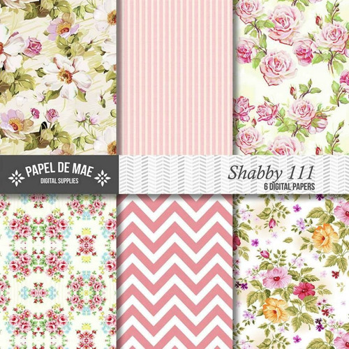 kit imprimible pack fondos shabby chic clipart cod 79