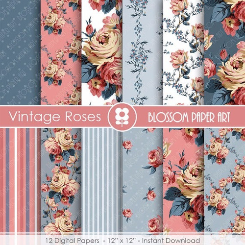 kit imprimible pack fondos shabby chic clipart cod 83