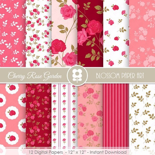 kit imprimible pack fondos shabby chic clipart cod 99