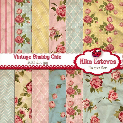kit imprimible pack fondos shabby chic clipart cod299