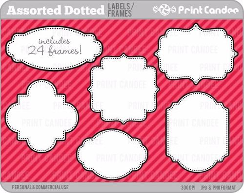 kit imprimible pack frames etiquetas label clipart cod 24