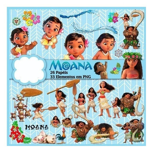 kit imprimible pack moana super pack digital fondos jpg
