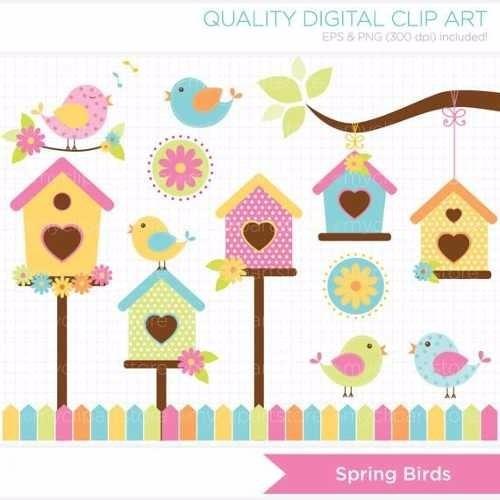 kit imprimible pajaritos 9 imagenes clipart