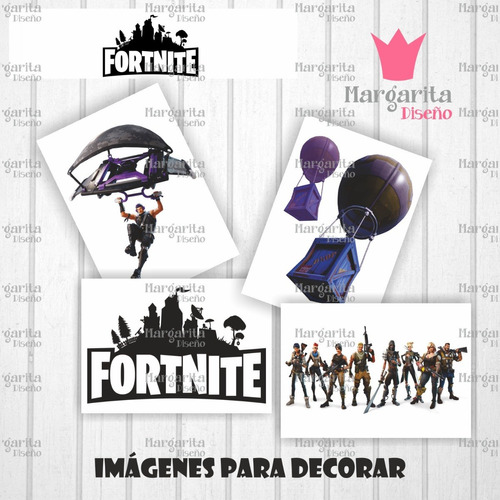 kit imprimible para candy bar fortnite