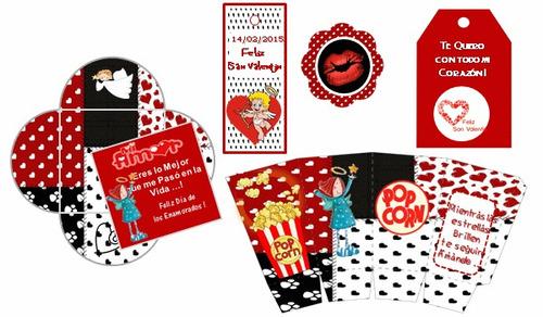 kit imprimible para san valentin