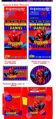 kit imprimible para tu fiesta de spiderman