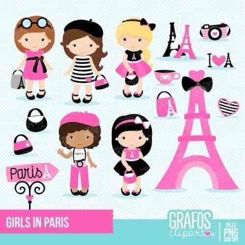 kit imprimible paris 14 imagenes clipart