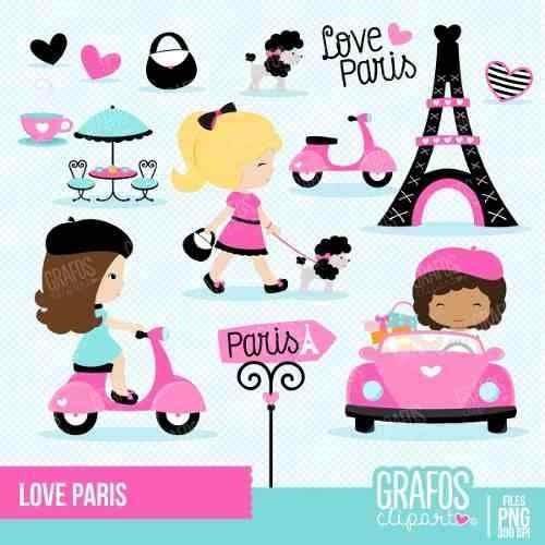 kit imprimible paris 15 imagenes clipart