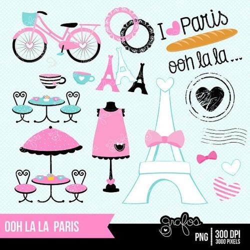 kit imprimible paris imagenes clipart
