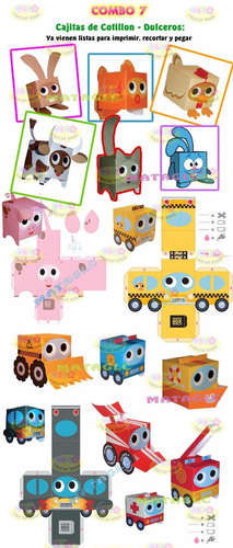 kit imprimible patrones de cajas y bolsas editables!