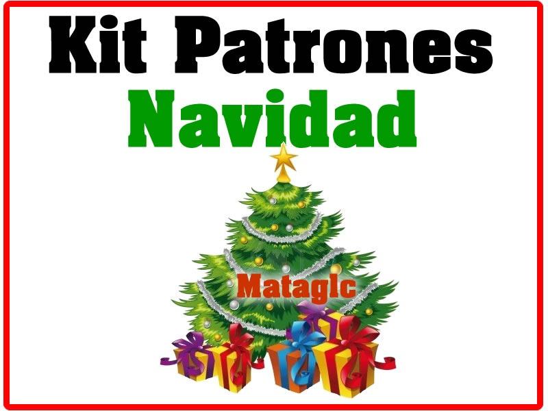 Kit Imprimible Patrones Navidad Botas Muñecos Arbol Fieltro - Bs ...