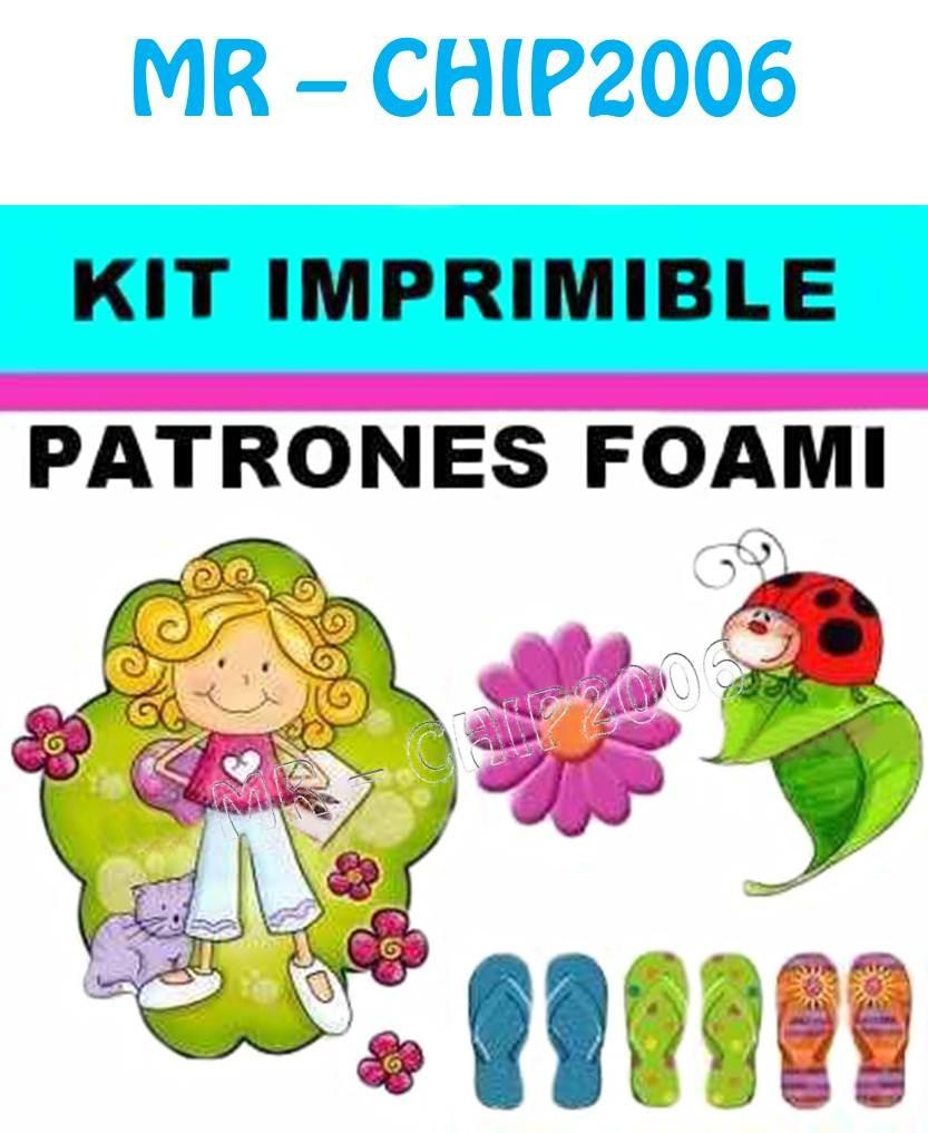 Kit Imprimible Patrones Para Foami Goma Eva - Bs. 250,00 en ...