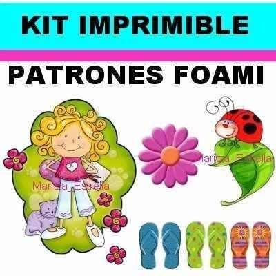 kit imprimible patrones para foami goma eva.