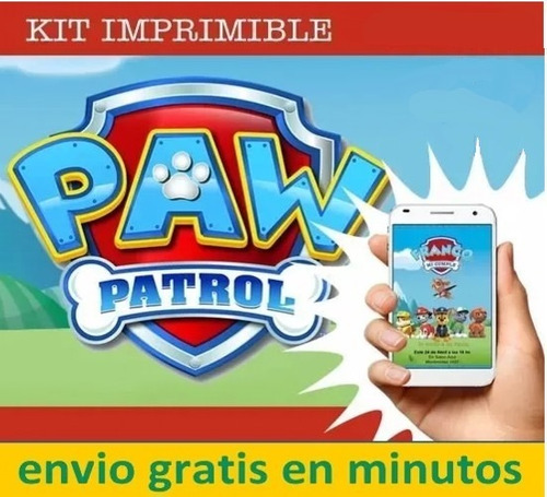 kit imprimible patrulla canina paw patrol invitacion 2020