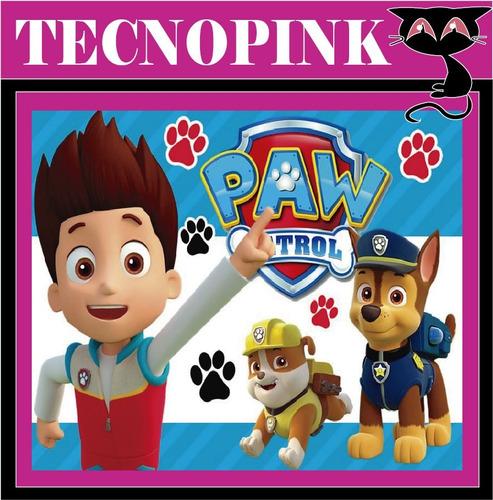 kit imprimible paw patrol (2en1) +candy bar+ regalo +(2x1)