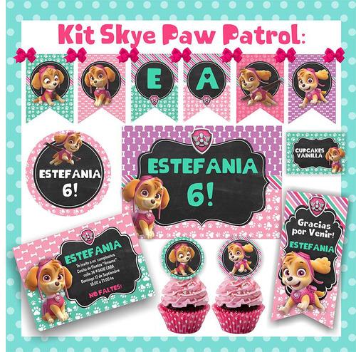 kit imprimible paw patrol