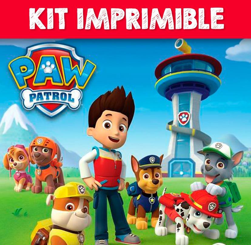 Kit Imprimible Paw Patrol Candy Bar Invitaciones Etiquetas