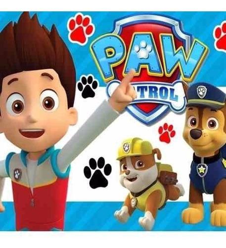 kit imprimible paw patrol patrulla de cachorros candy bar