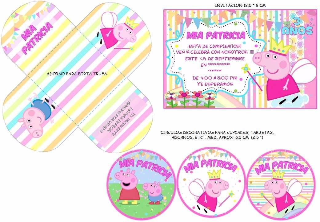 Kit Imprimible Peppa Pig Candy Bar Invitacion