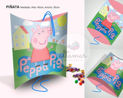 kit imprimible peppa pig editable candy bar cumpleaños