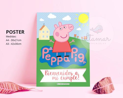 kit imprimible peppa pig editable candy personalizado